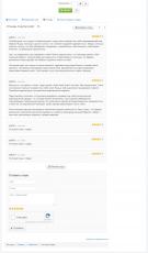 Страница товара - вкладка отзывы