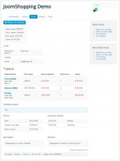 Страница пользователя - информация о заказе